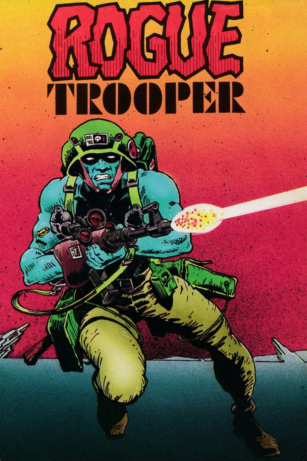 screenshot of the Amstrad CPC game Rogue Trooper by GameBase CPC