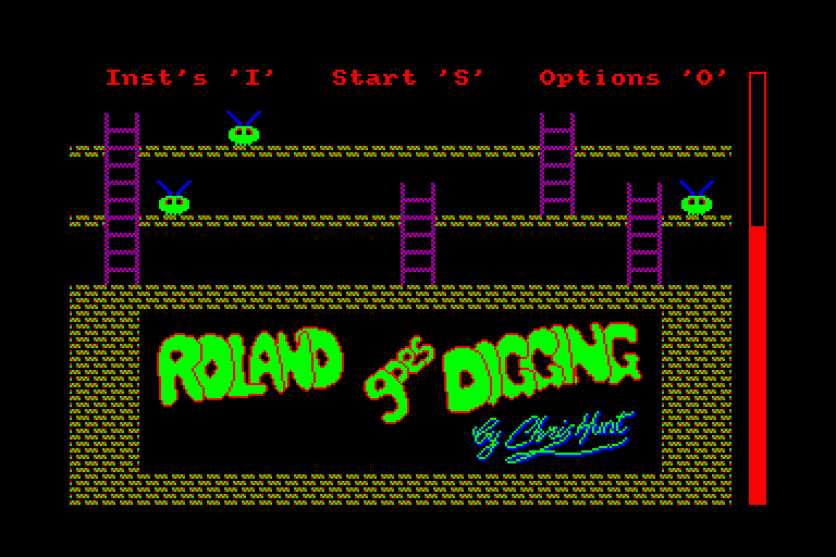 screenshot of the Amstrad CPC game Roland goes digging by GameBase CPC