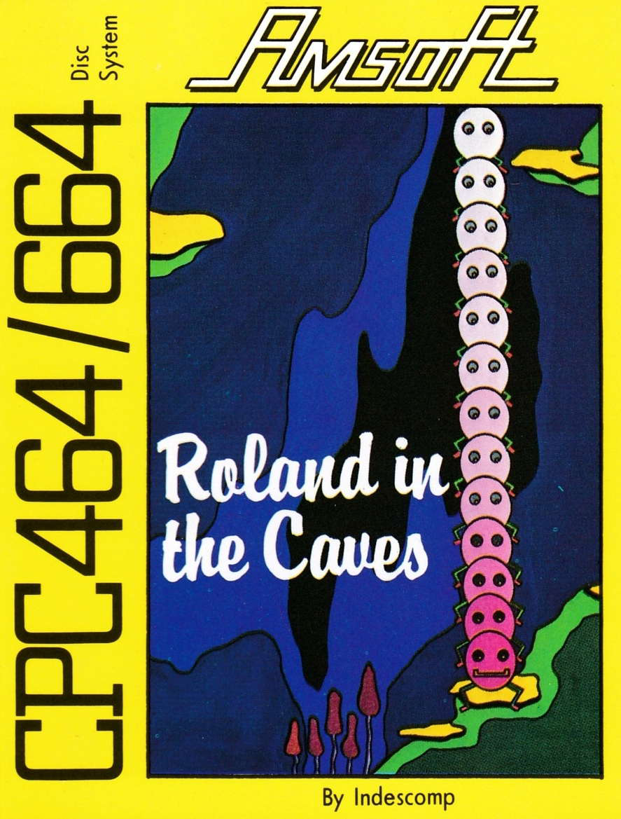 screenshot of the Amstrad CPC game Roland in the caves by GameBase CPC