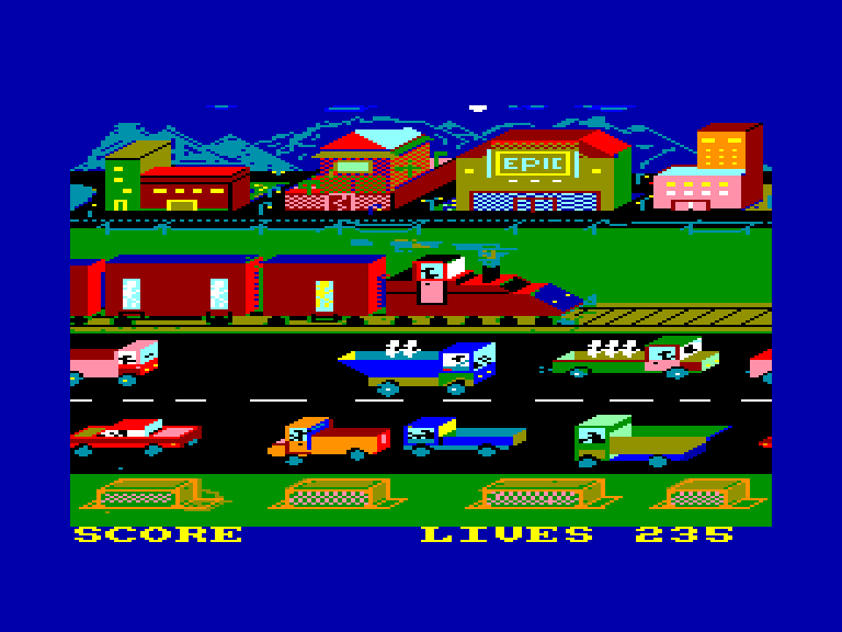 screenshot of the Amstrad CPC game Roland on the run by GameBase CPC
