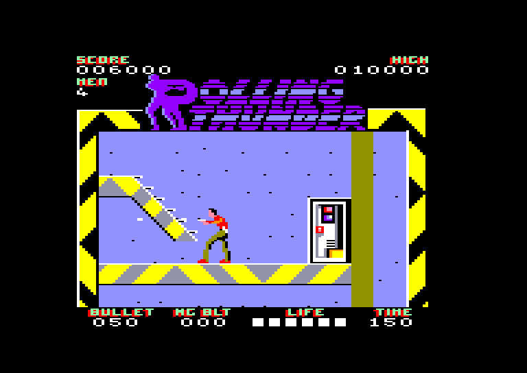screenshot of the Amstrad CPC game Rolling thunder by GameBase CPC