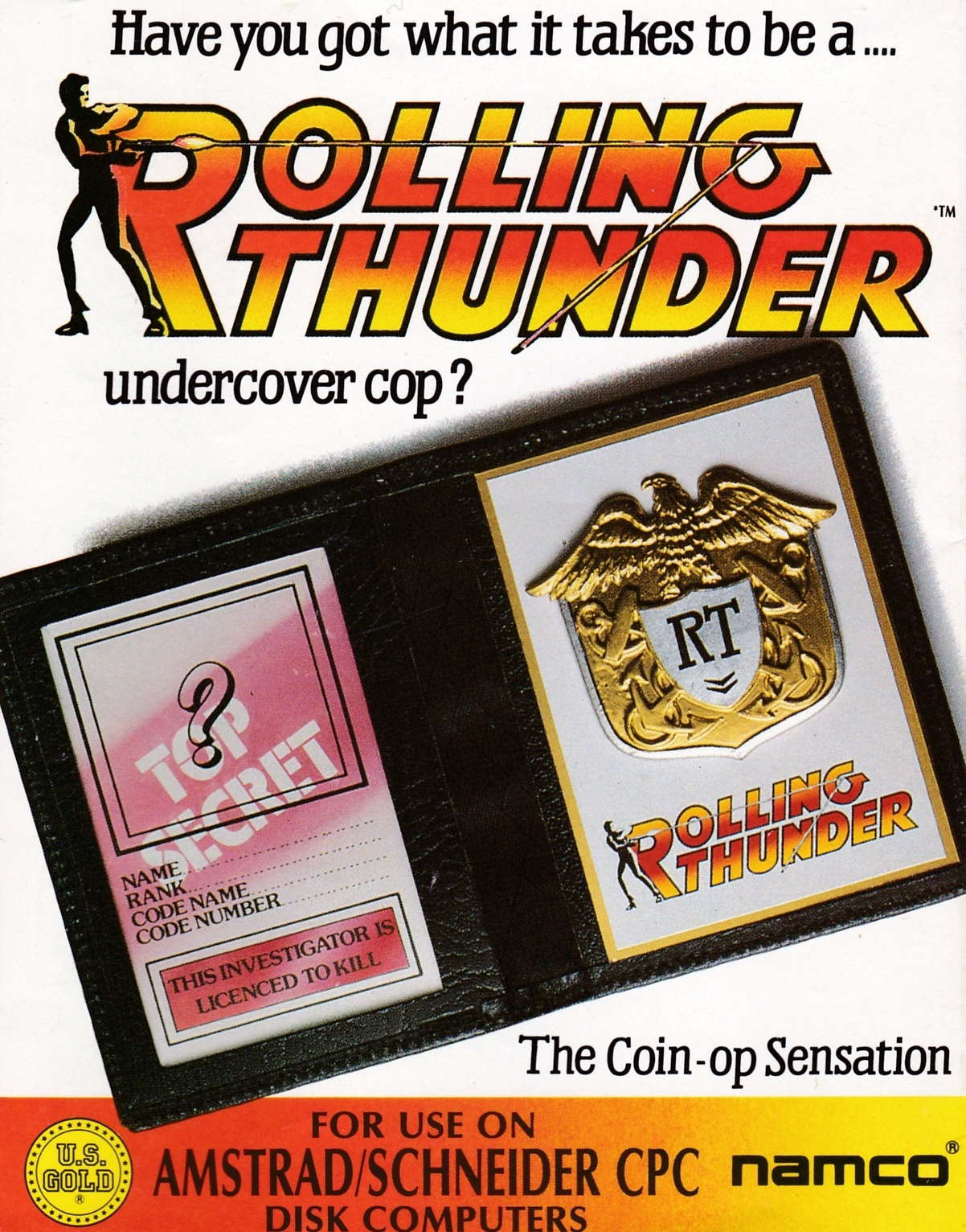 cover of the Amstrad CPC game Rolling Thunder  by GameBase CPC