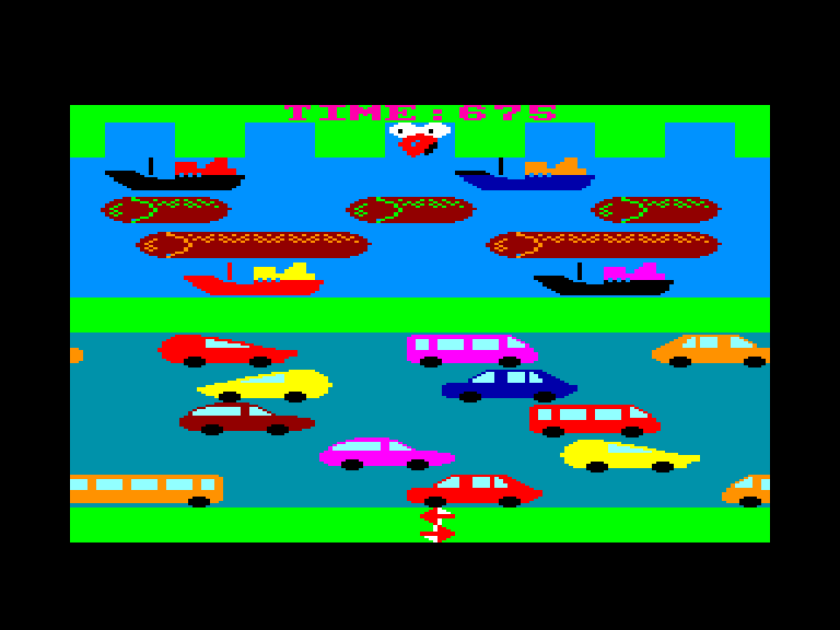 screenshot of the Amstrad CPC game Rooster run by GameBase CPC