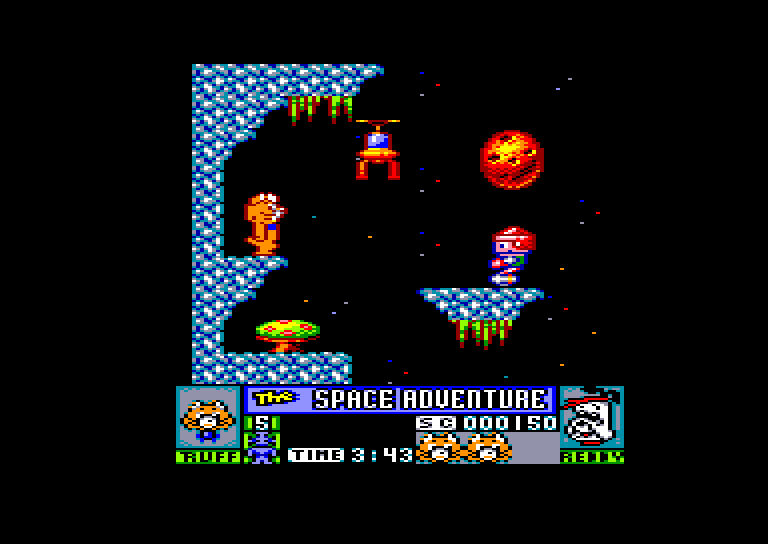 screenshot of the Amstrad CPC game Ruff And Reddy by GameBase CPC