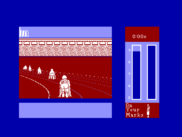 screenshot of the Amstrad CPC game Run for gold by GameBase CPC