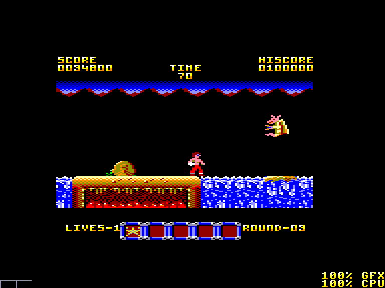 screenshot of the Amstrad CPC game Rygar by GameBase CPC