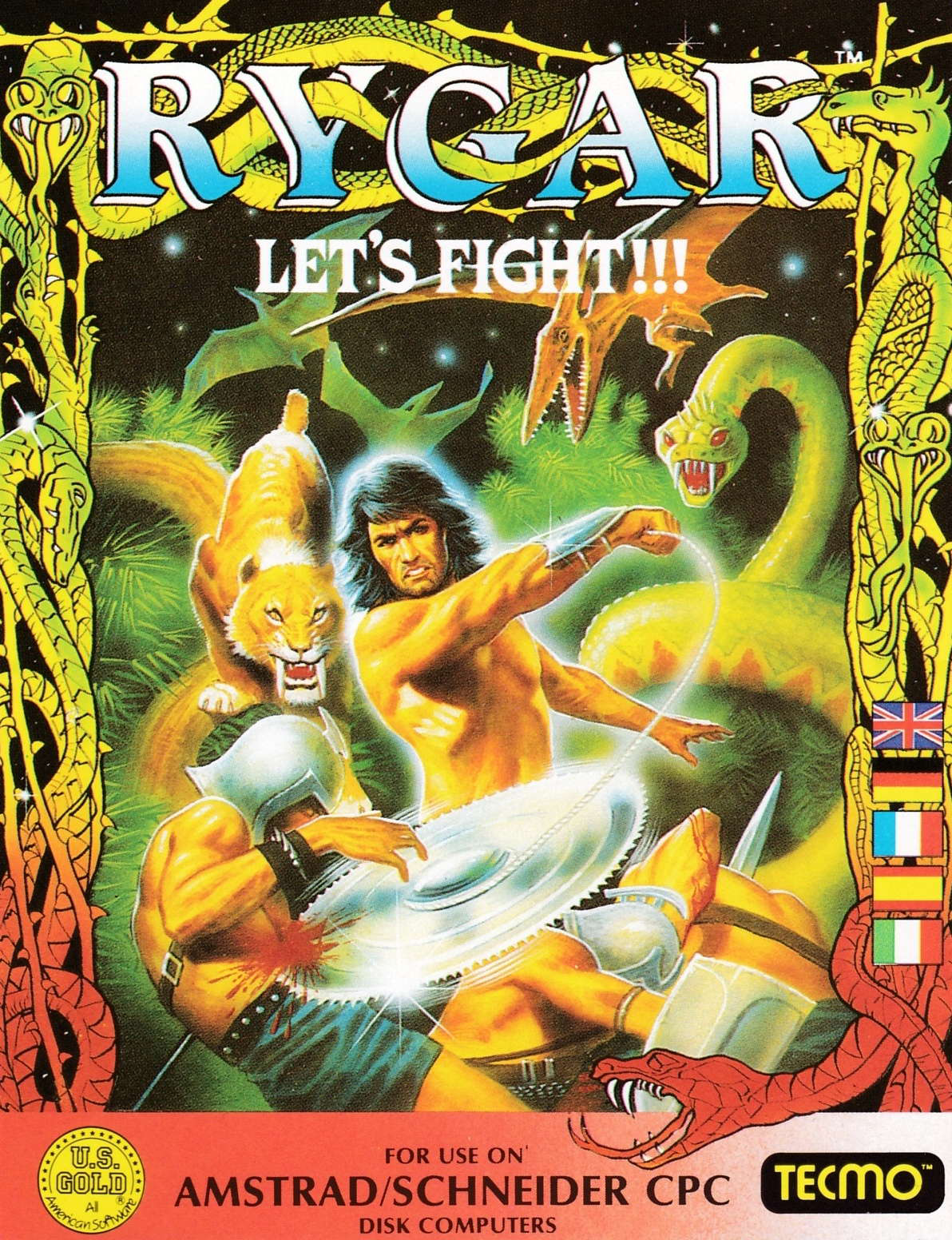 cover of the Amstrad CPC game Rygar  by GameBase CPC