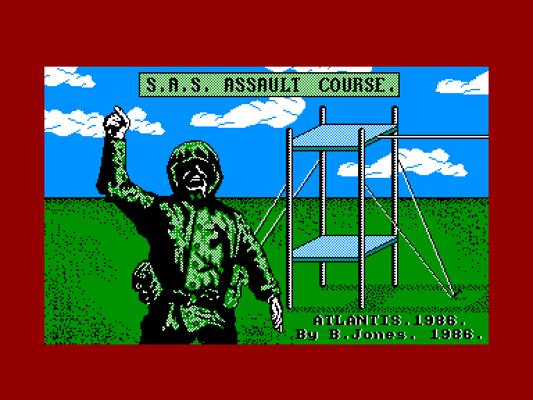 screenshot of the Amstrad CPC game Sas assault course by GameBase CPC