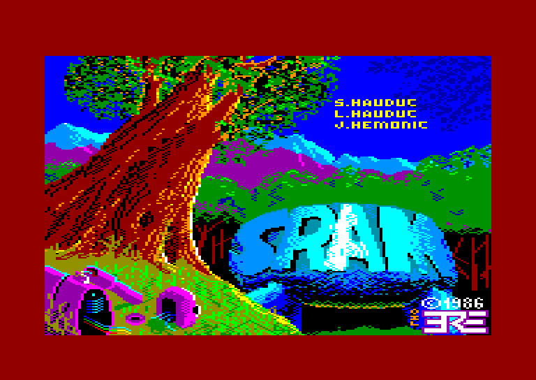 screenshot of the Amstrad CPC game SRAM by GameBase CPC