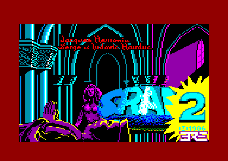 screenshot of the Amstrad CPC game SRAM 2 by GameBase CPC