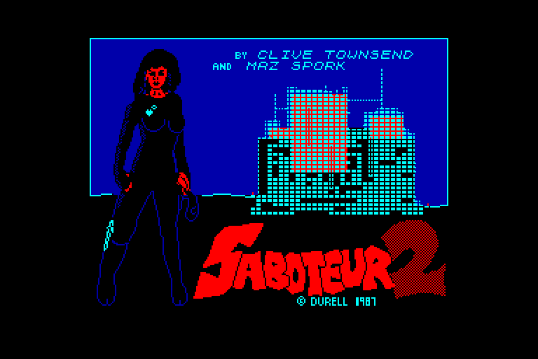screenshot of the Amstrad CPC game Saboteur II by GameBase CPC