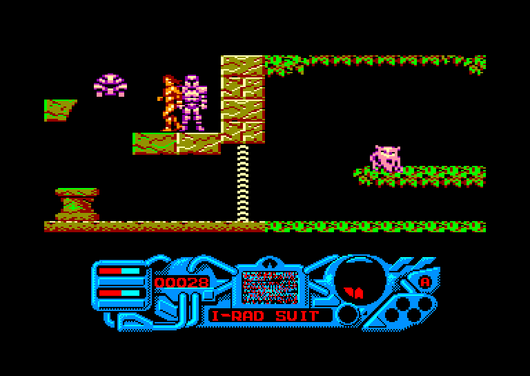 screenshot of the Amstrad CPC game Sacred Armour of Antiriad (the) by GameBase CPC