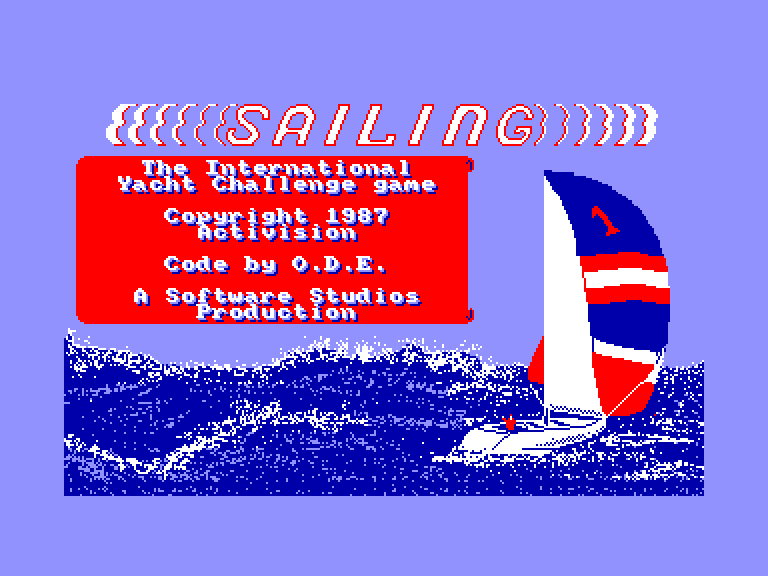 screenshot of the Amstrad CPC game Sailing by GameBase CPC