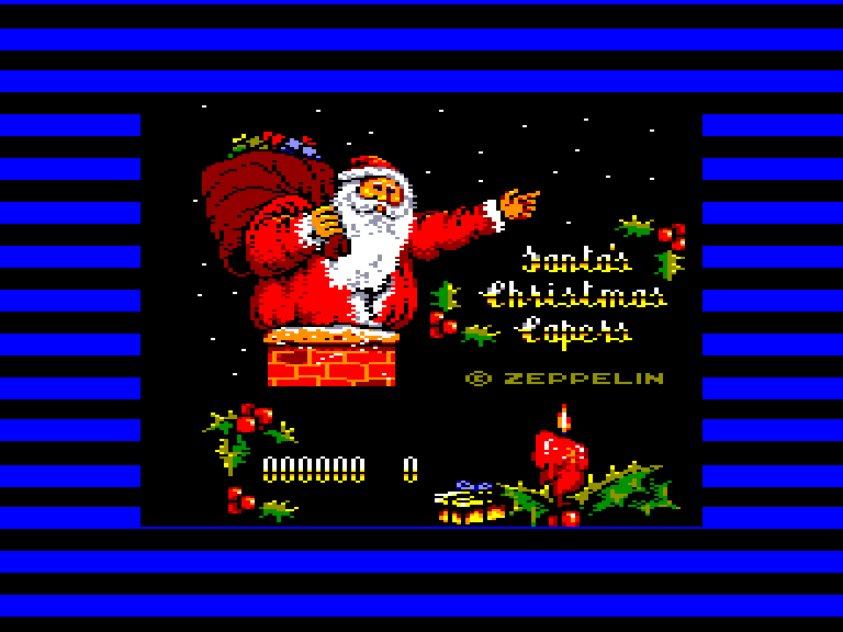 screenshot of the Amstrad CPC game Santa's Christmas Capers by GameBase CPC