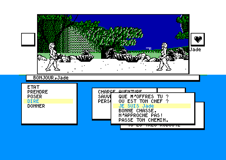 screenshot of the Amstrad CPC game Sapiens by GameBase CPC