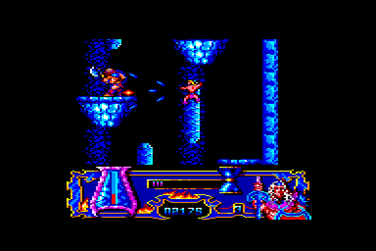 screenshot of the Amstrad CPC game Satan by GameBase CPC