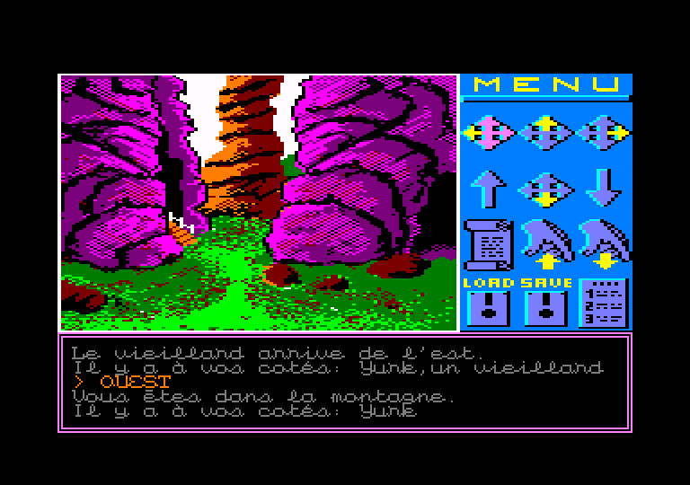 screenshot of the Amstrad CPC game Sauvez Yurk by GameBase CPC