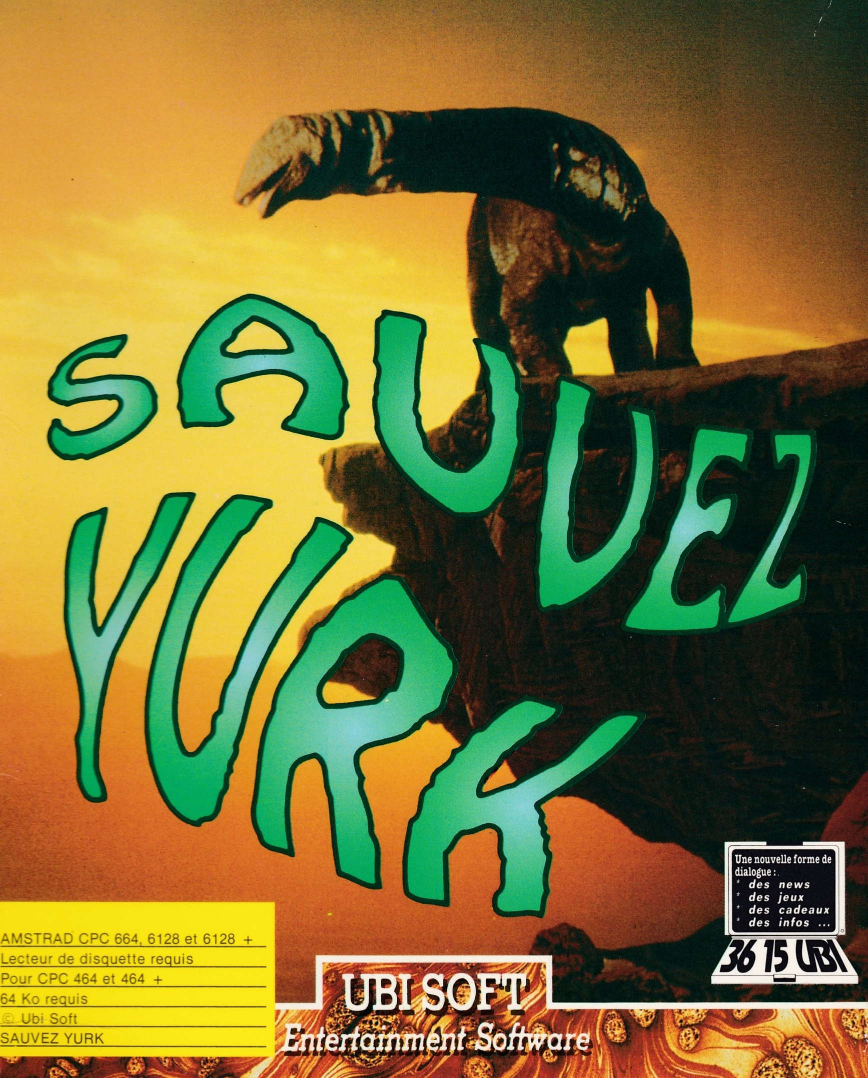 cover of the Amstrad CPC game Sauvez Yurk  by GameBase CPC
