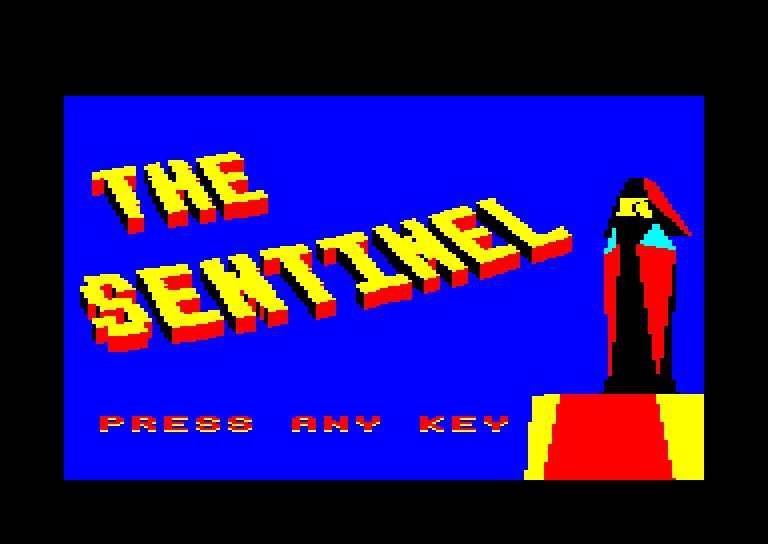 screenshot of the Amstrad CPC game Sentinel (the) by GameBase CPC