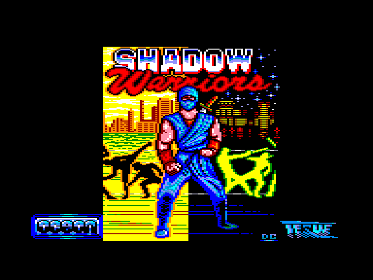 screenshot of the Amstrad CPC game Shadow Warriors by GameBase CPC