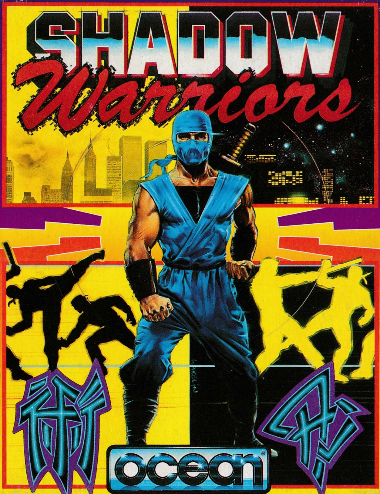 cover of the Amstrad CPC game Shadow Warriors  by GameBase CPC