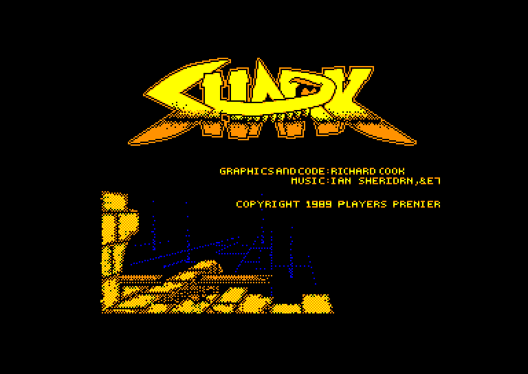 screenshot of the Amstrad CPC game Shark by GameBase CPC