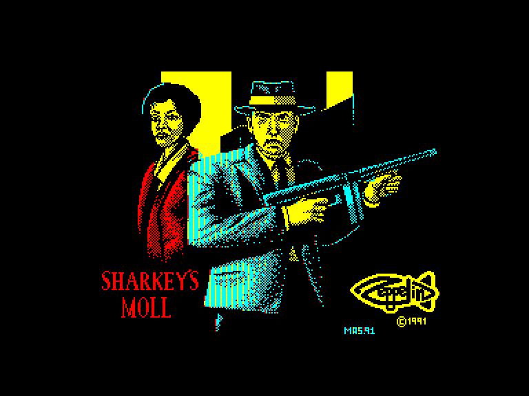 screenshot of the Amstrad CPC game Sharkey's moll by GameBase CPC