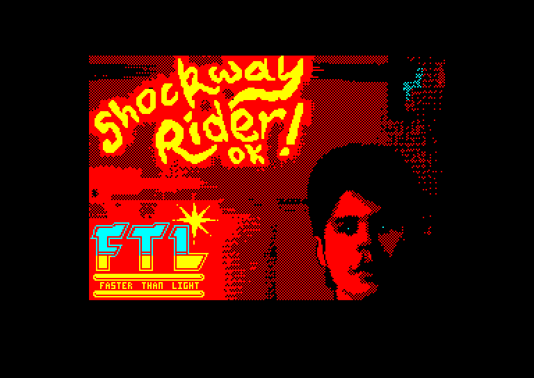 screenshot of the Amstrad CPC game Shockway Rider by GameBase CPC