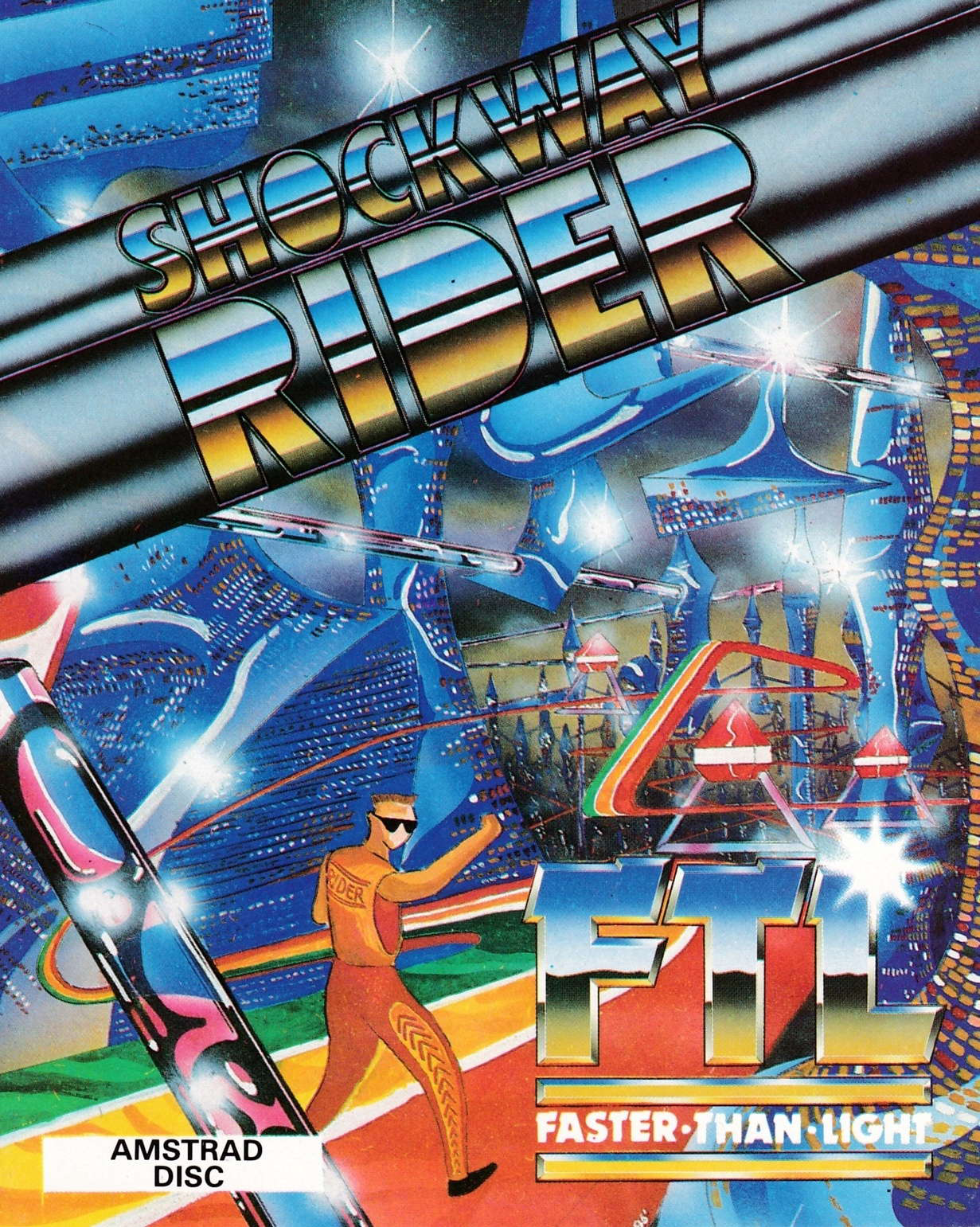 cover of the Amstrad CPC game Shockway Rider  by GameBase CPC