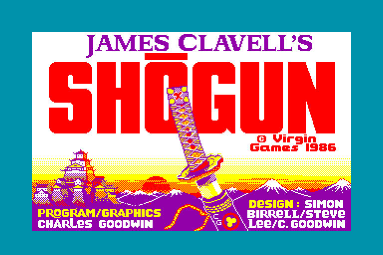 screenshot of the Amstrad CPC game Shogun by GameBase CPC