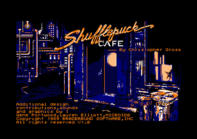 screenshot of the Amstrad CPC game Shufflepuck Cafe by GameBase CPC