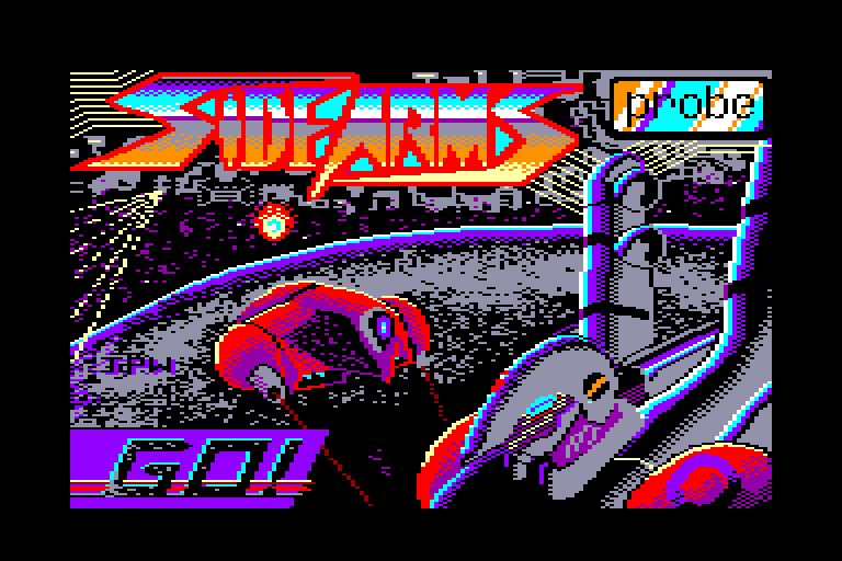 screenshot of the Amstrad CPC game Side Arms by GameBase CPC