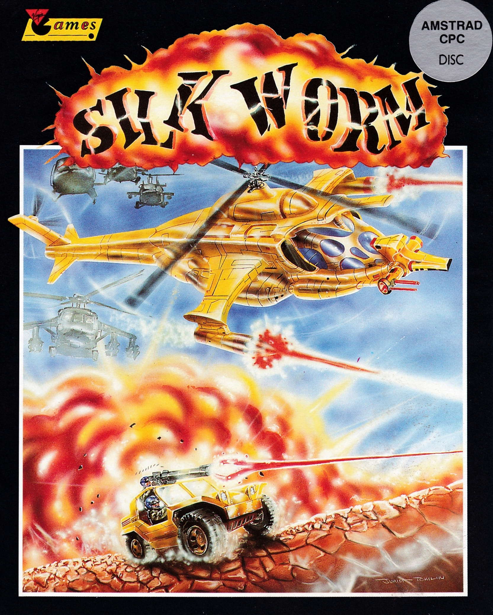 screenshot of the Amstrad CPC game Silkworm by GameBase CPC