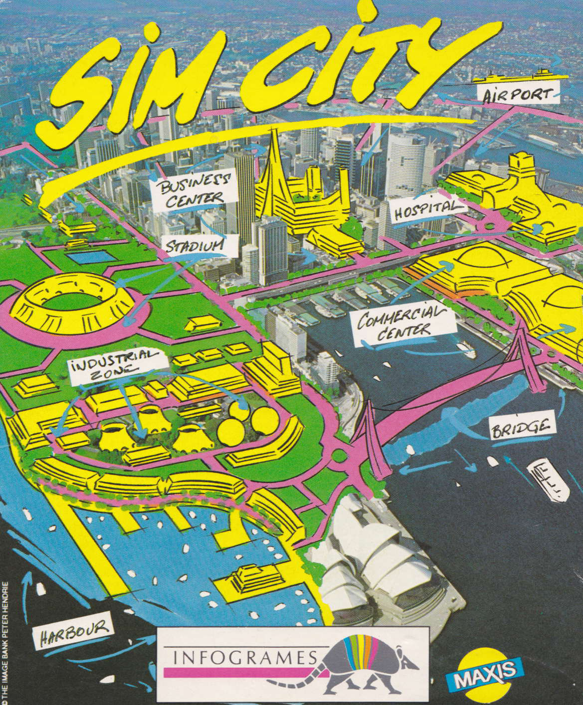 cover of the Amstrad CPC game Sim City  by GameBase CPC