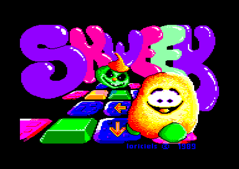 screenshot of the Amstrad CPC game Skweek by GameBase CPC