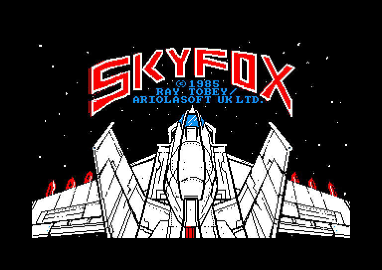 screenshot of the Amstrad CPC game Skyfox by GameBase CPC