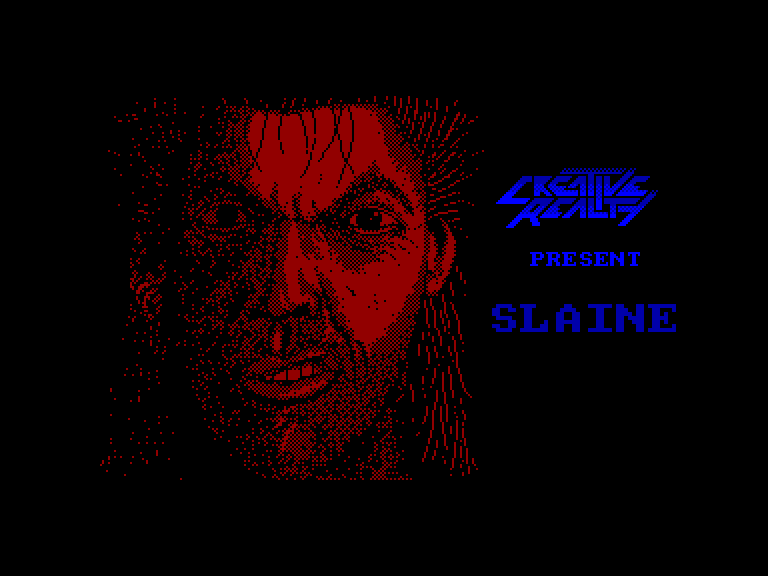 screenshot of the Amstrad CPC game Slaine by GameBase CPC