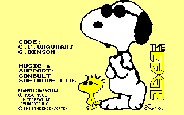 screenshot of the Amstrad CPC game Snoopy and peanuts by GameBase CPC