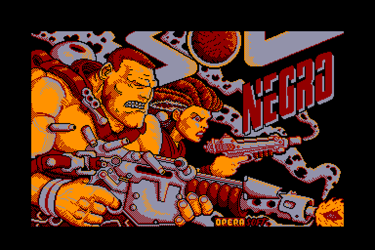 screenshot of the Amstrad CPC game Sol Negro by GameBase CPC