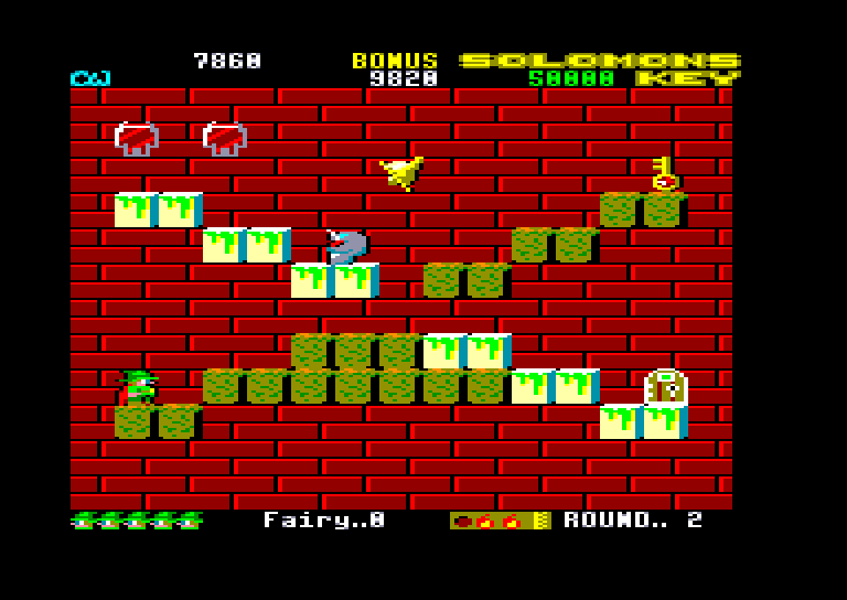 screenshot of the Amstrad CPC game Solomon's Key by GameBase CPC