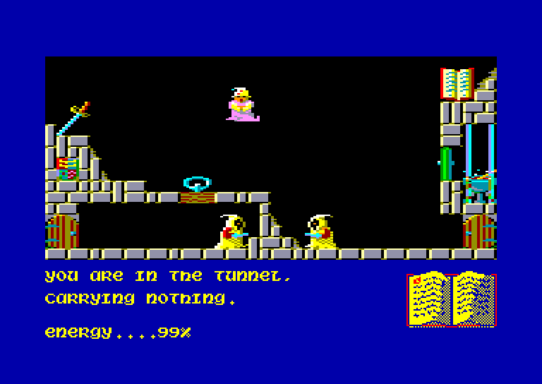 screenshot of the Amstrad CPC game Sorcery by GameBase CPC