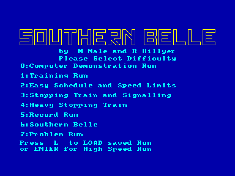 screenshot of the Amstrad CPC game Southern belle by GameBase CPC