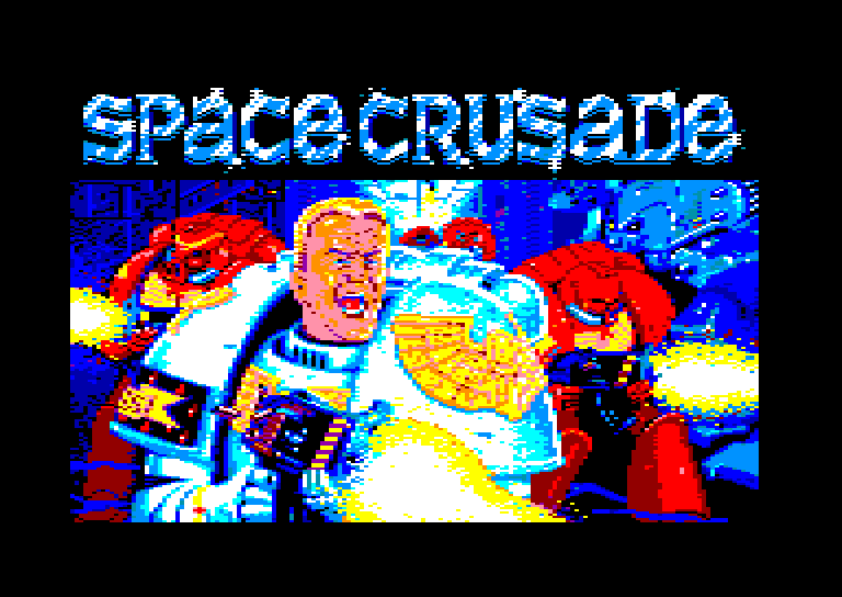 screenshot of the Amstrad CPC game Space crusade by GameBase CPC