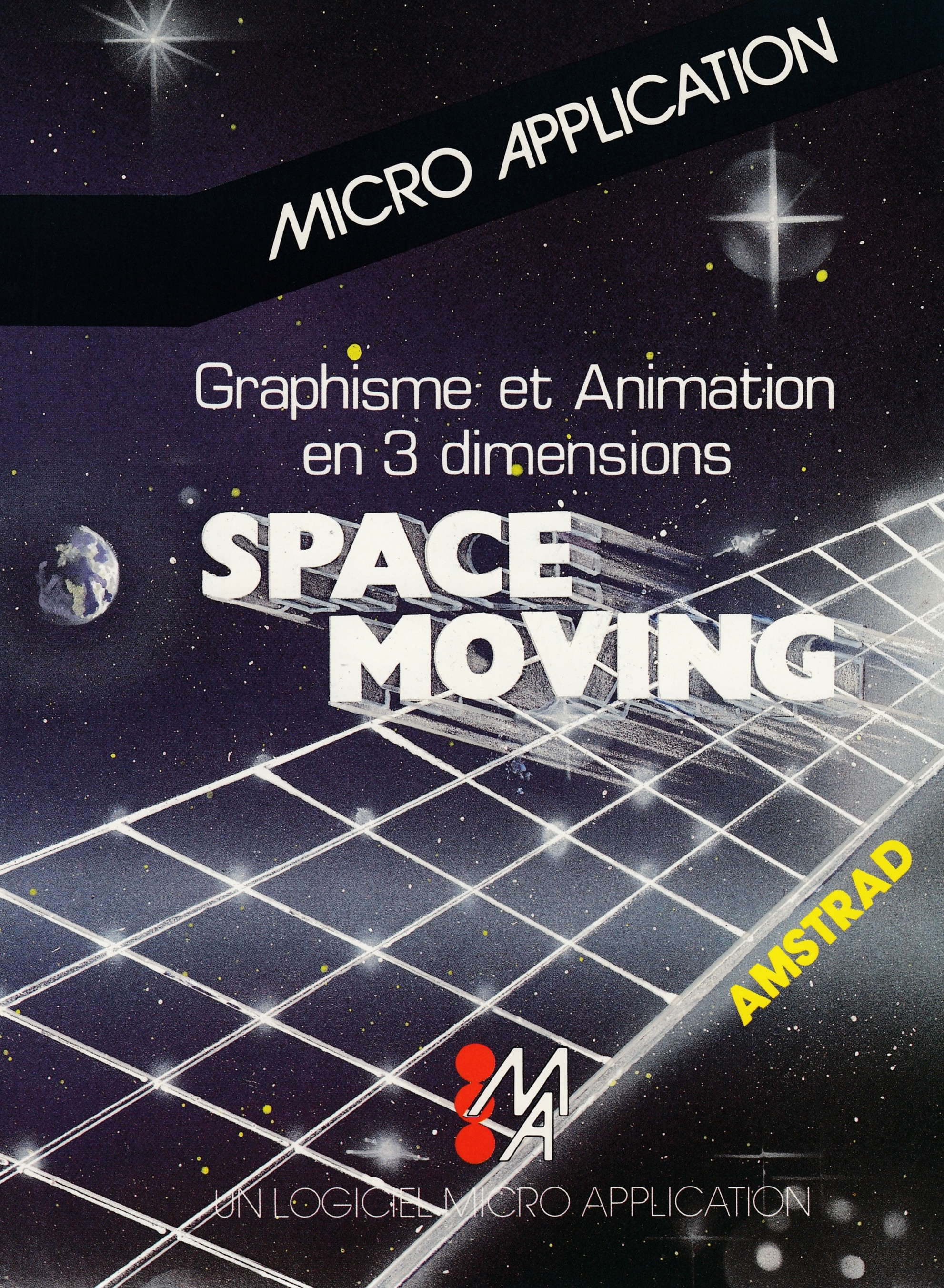 screenshot of the Amstrad CPC game Space Moving by GameBase CPC