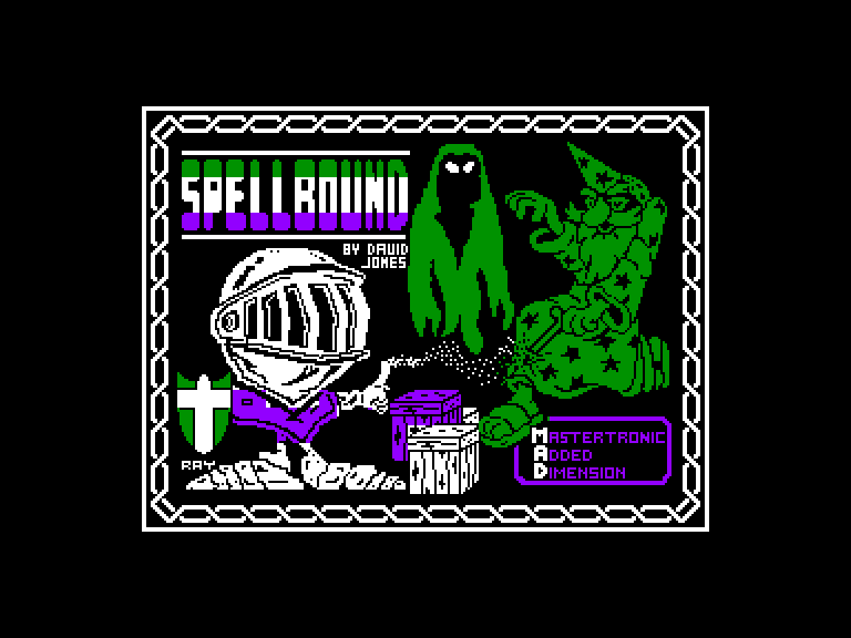 screenshot of the Amstrad CPC game Spellbound by GameBase CPC