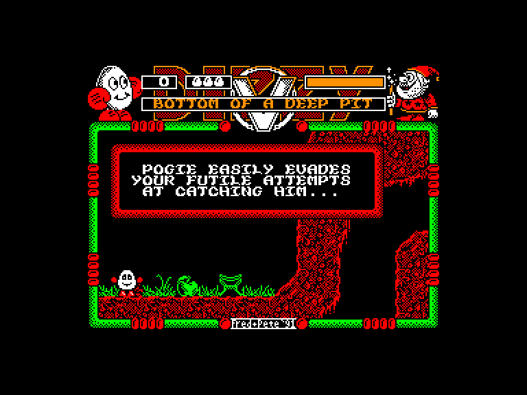 screenshot of the Amstrad CPC game Dizzy 9: Spellbound Dizzy by GameBase CPC