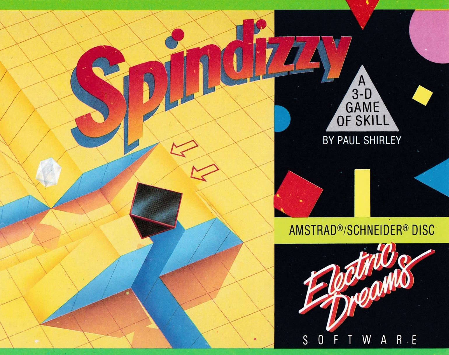 cover of the Amstrad CPC game Spindizzy  by GameBase CPC