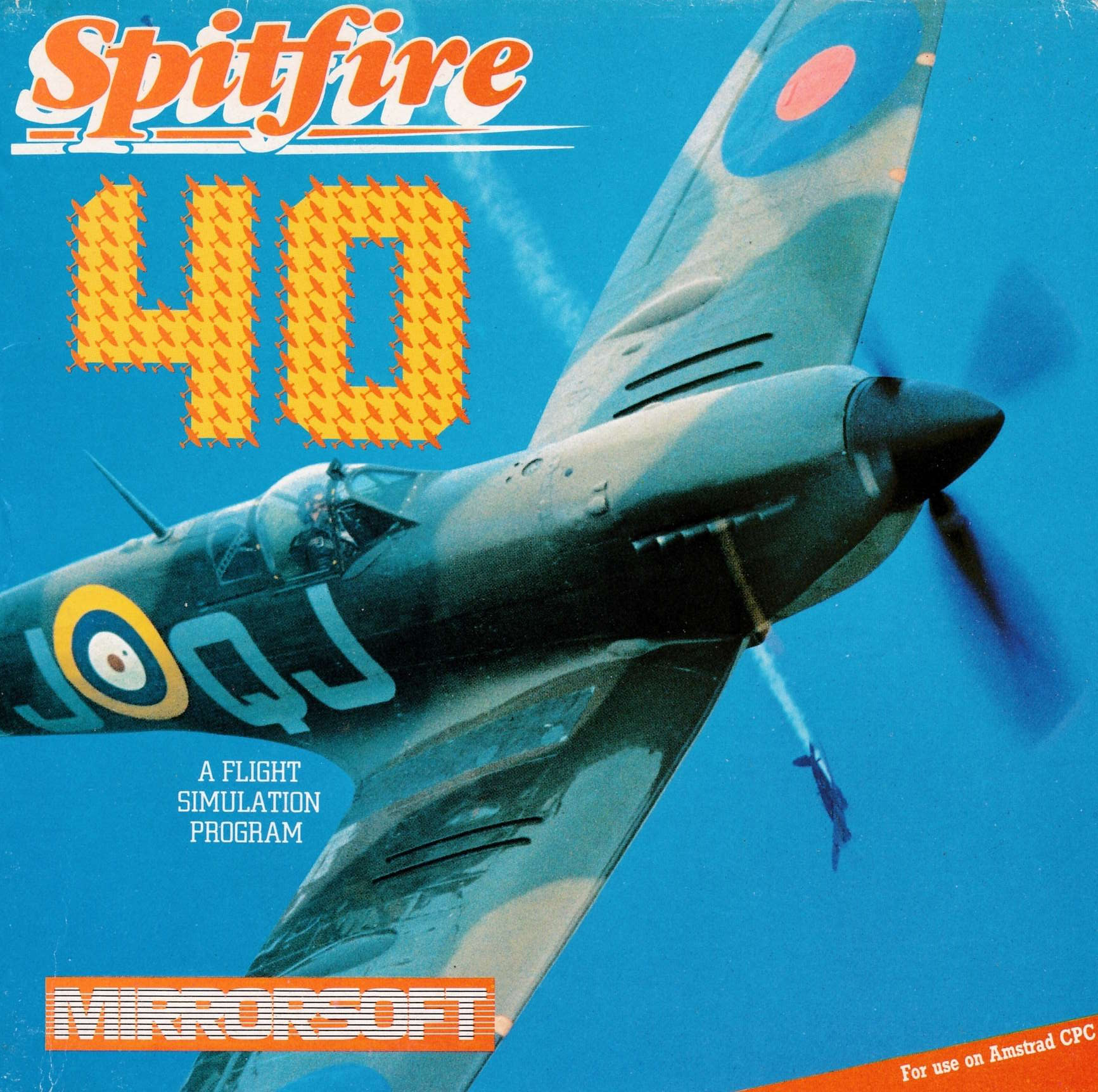 cover of the Amstrad CPC game Spitfire 40  by GameBase CPC