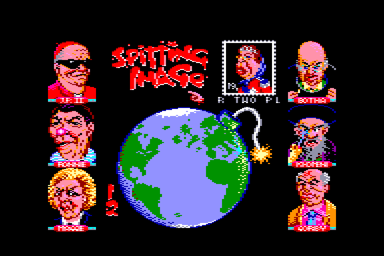 screenshot of the Amstrad CPC game Spitting Image by GameBase CPC