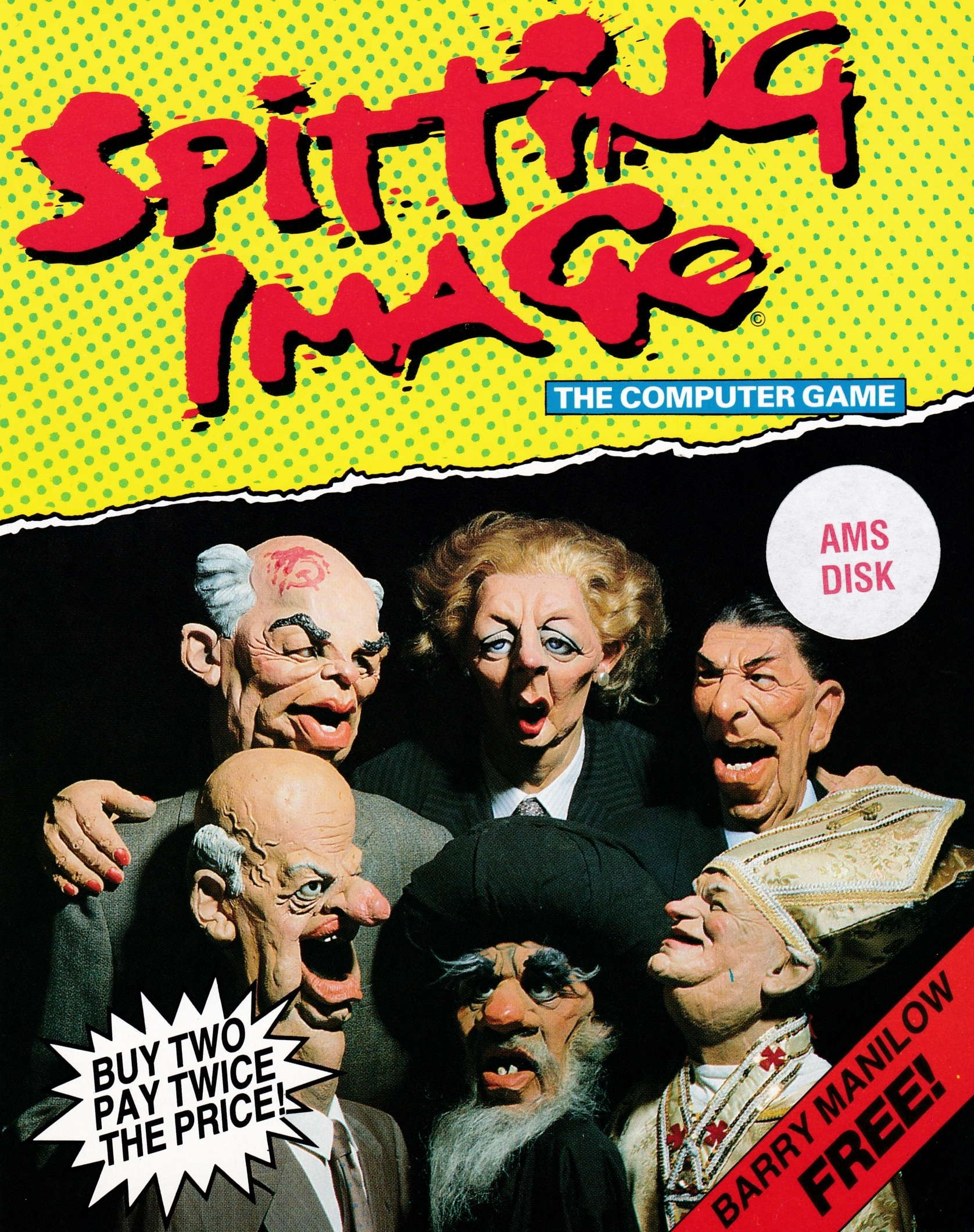 cover of the Amstrad CPC game Spitting Image  by GameBase CPC